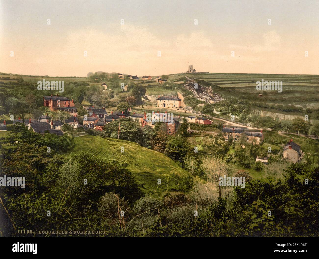 Bosbastle e Forraberg in Cornovaglia circa 1890-1900 Foto Stock