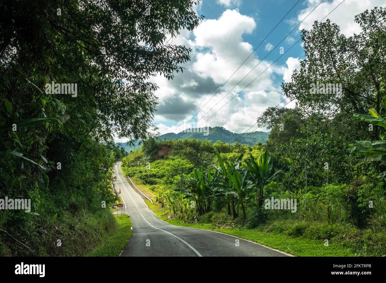 Kampung Semaru Road, Padawan, Sarawak, Malesia orientale Foto Stock