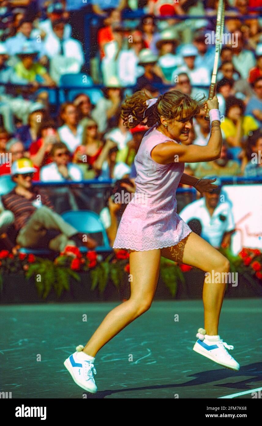 Tracy Austin (USA) vince i Campionati di tennis aperti degli Stati Uniti del 1981 Foto Stock