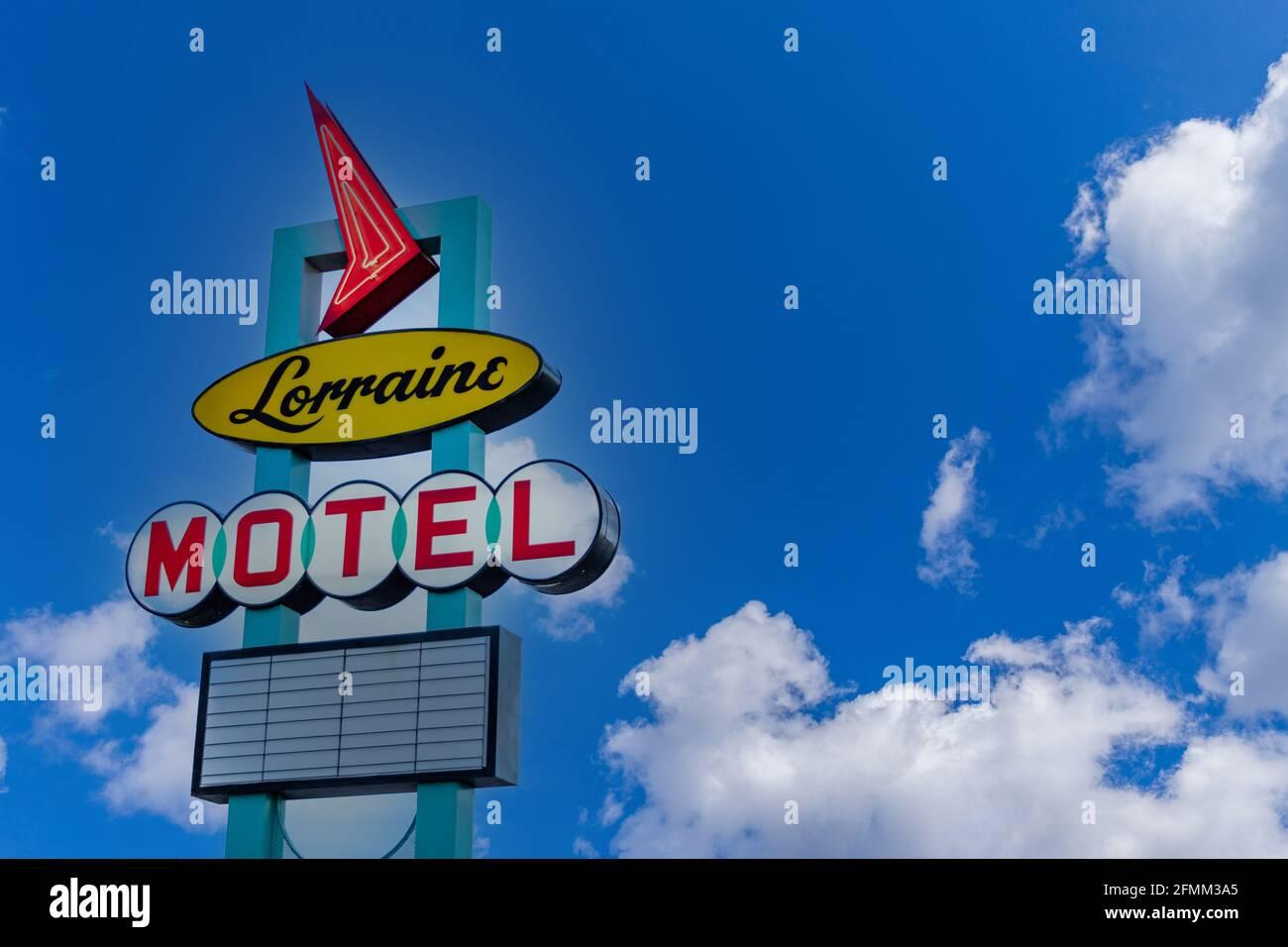 Memphis, TN / USA - 3 settembre 2020: Il Lorraine Motel a Memphis, TN dove Martin Luther King, Jr è stato assassinato. Foto Stock