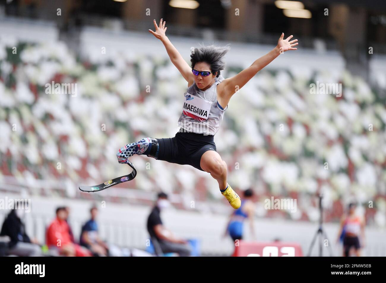 Kaede Maegawa, 11 MAGGIO 2021 - Para Athletics : READY STEADY TOKYO - Para Athletics Women's Long Jump T63 Final al National Stadium di Tokyo, Giappone. (Foto di MATSUO.K/AFLO SPORT) Foto Stock