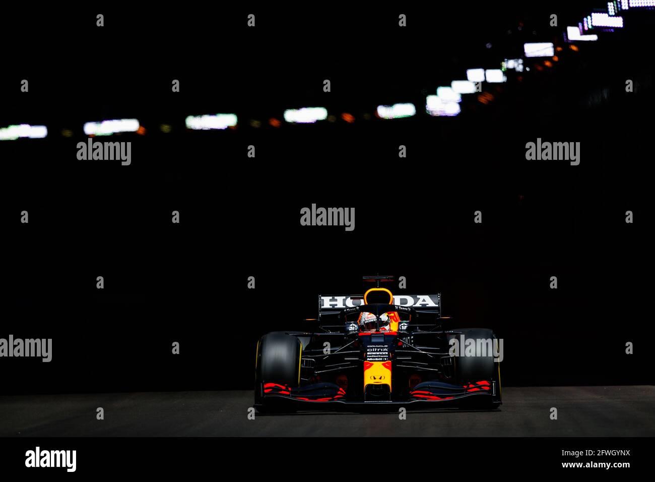 33 VERSTAPPEN Max (nld), Red Bull Racing Honda RB16B, azione durante il Campionato del mondo di Formula uno 2021, Gran Premio di Monaco dal 20 al 23 maggio a Monaco - Foto Florent Gooden / DPPI Foto Stock