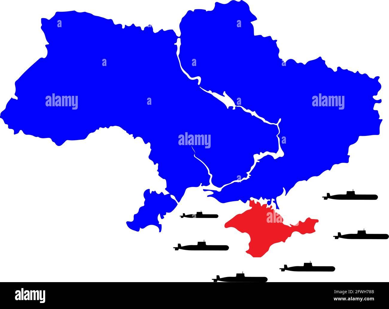 Cartina Muta Ucraina.Ukraine Russia Map Immagini E Fotos Stock Alamy