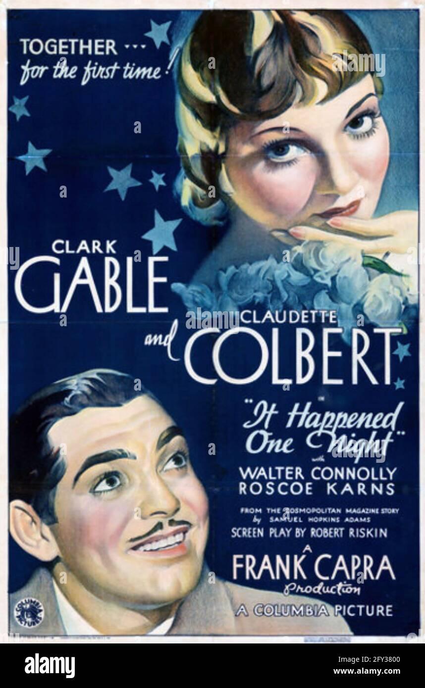 E 'ACCADUTO UNA NOTTE 1934 Columbia Pictures film con Claudette Colbert e Clark Gable. Foto Stock