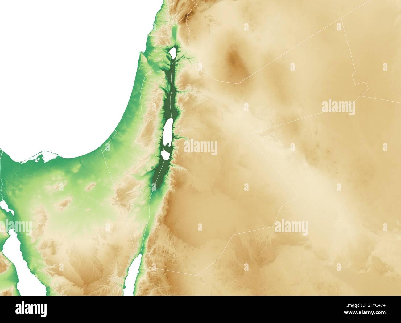 Cartina Fisica Palestina.Cartina Fisica Della Palestina Foto Stock Alamy