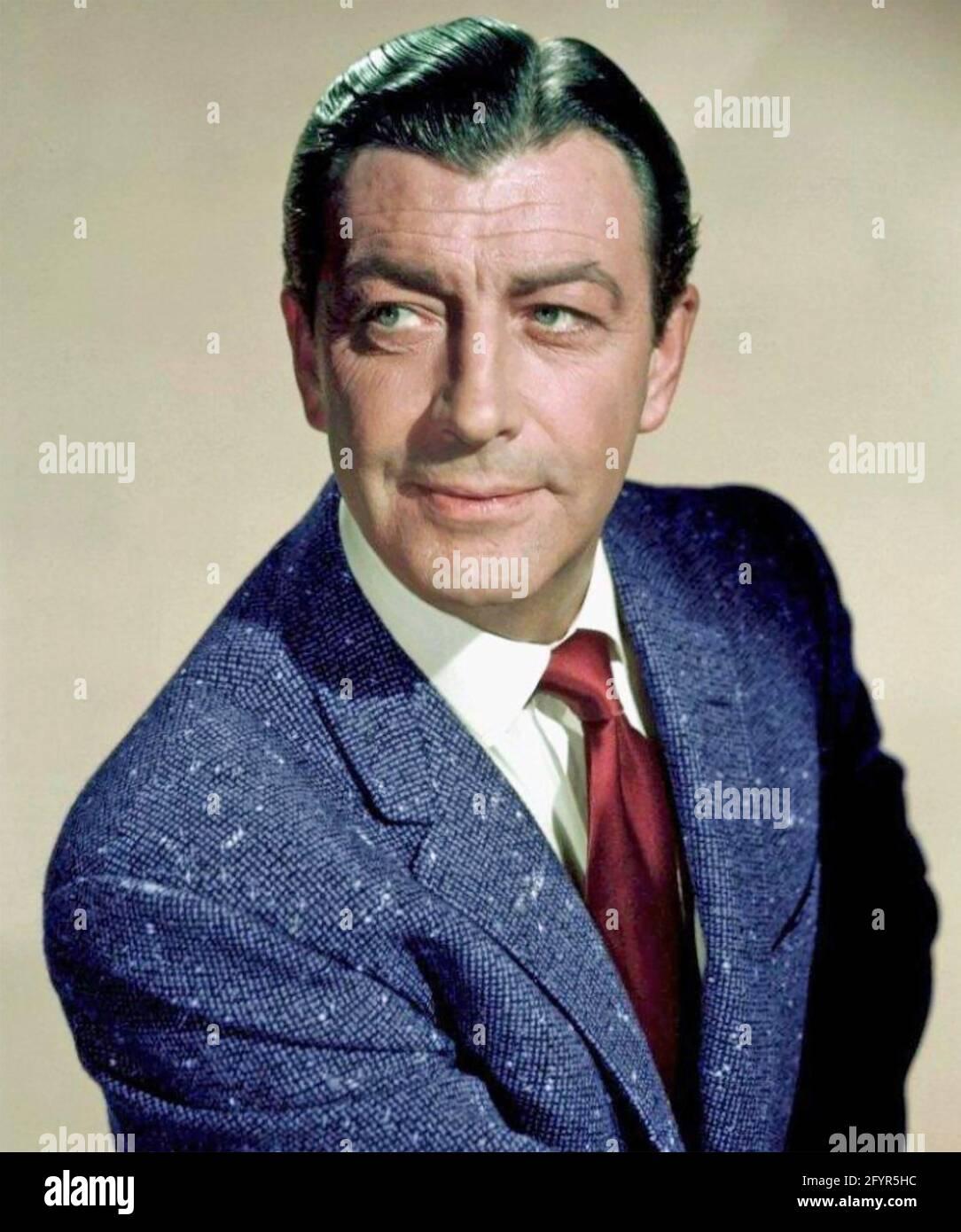 ROBERT TAYLOR (1911-1969) attore cinematografico americano circa 1960 Foto Stock