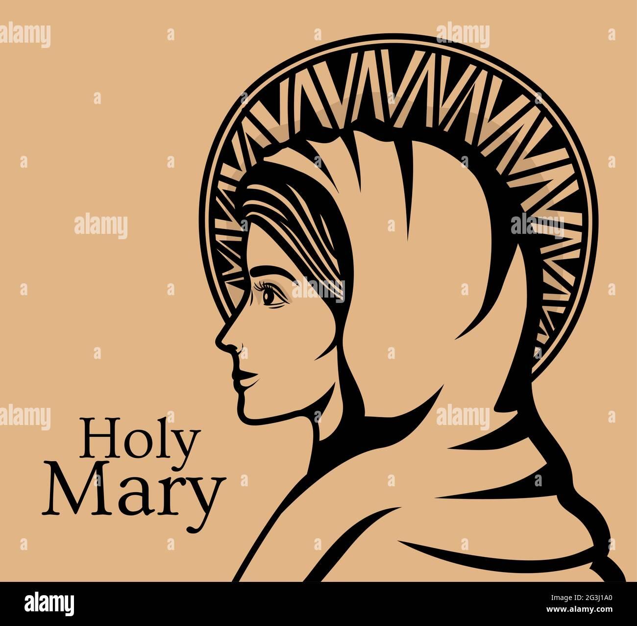 illustrazione di santa maria Illustrazione Vettoriale
