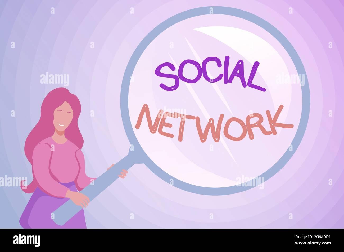 Visualizzazione concettuale Social Network. Foto concettuale un quadro di individuo collegato da interan individualal relazione astratta investigazione e. Foto Stock