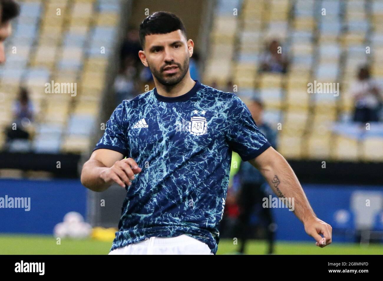 Sergio Aguero del Brasile durante la Coppa America 2021, finale di calcio  tra Argentina e Brasile