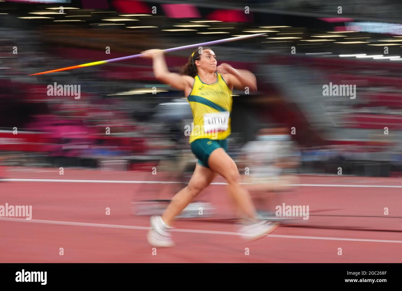 Tokyo 2020 Olimpiadi - Atletica - Donna 400m - finale - Stadio Olimpico, Tokyo, Giappone - 6 agosto 2021. Mackenzie poco di Australia in azione Foto Stock
