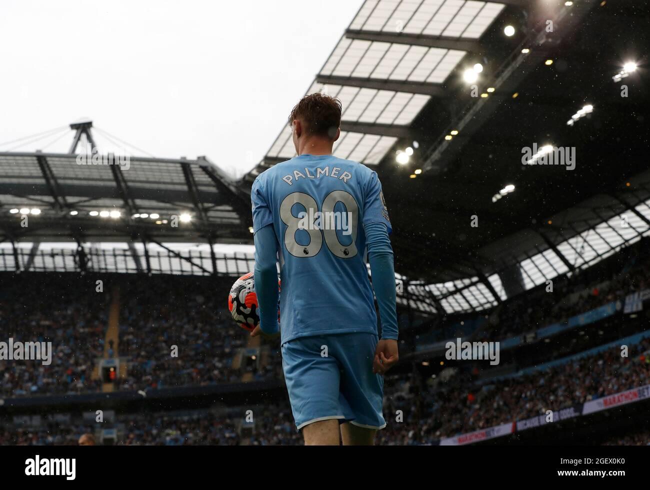 Manchester, Inghilterra, 21 agosto 2021. Cole Palmer di Manchester City durante la partita della Premier League all'Etihad Stadium di Manchester. Il credito dovrebbe essere: Darren Staples / Sportimage Foto Stock
