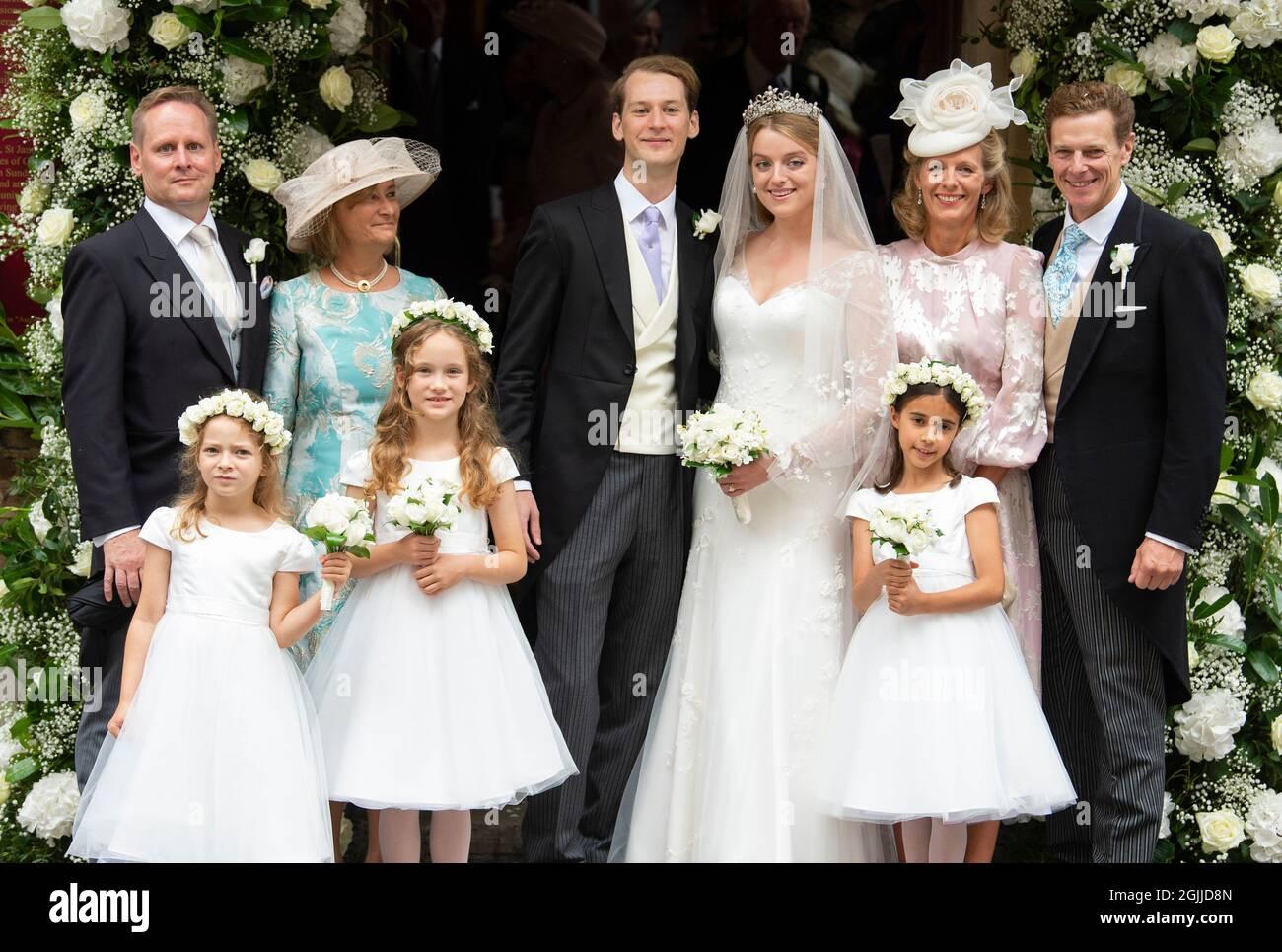 Londra, Regno Unito. 10 Settembre 2021. 10 settembre 2021, Londra, Regno Unito il matrimonio di Flora Ogilvy e Timothy Vesterberg matrimonio alla St George's Chapel, Piccadilly, Londra. Credit: Doug Peters/Alamy Live News Foto Stock
