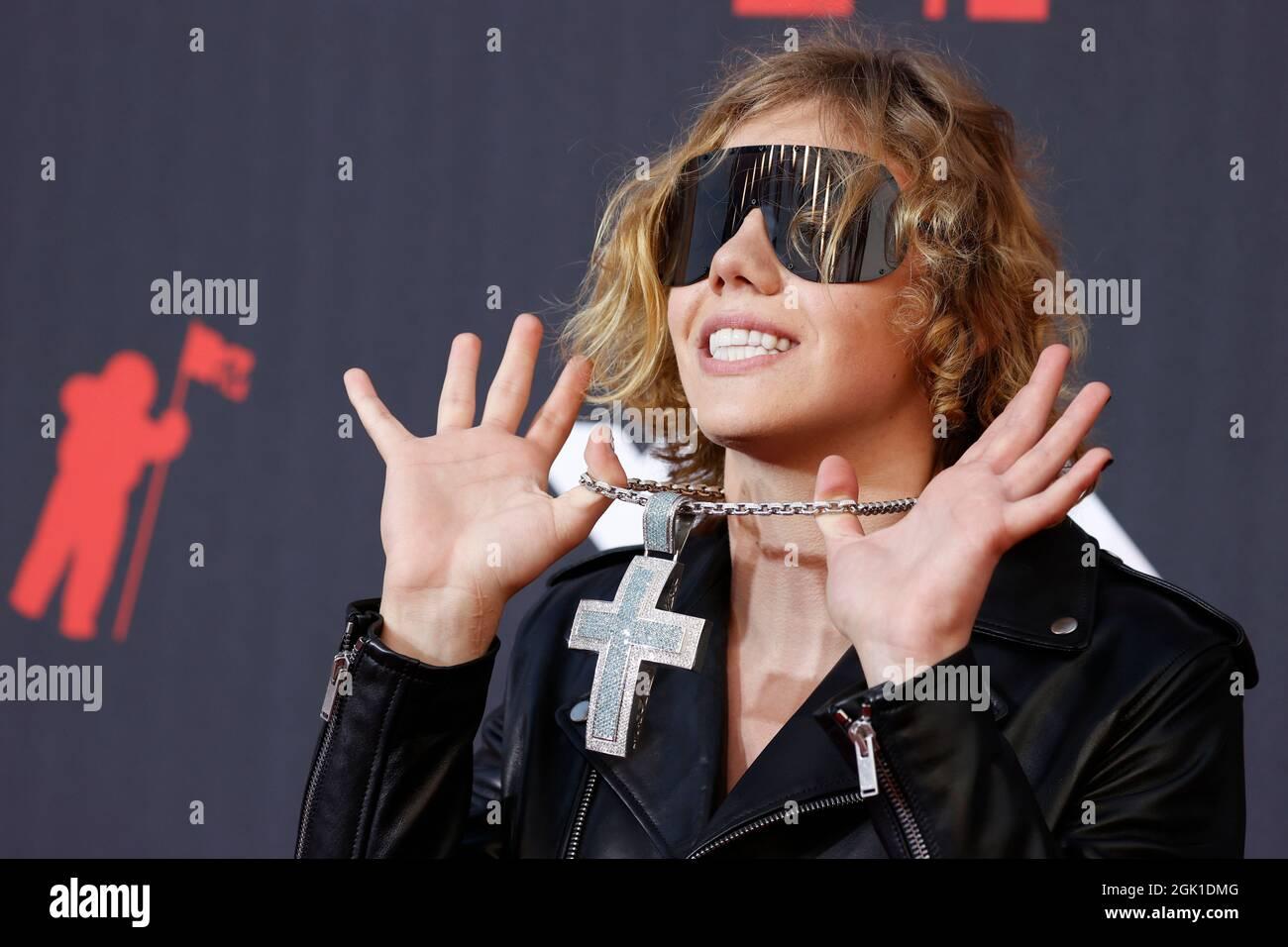 2021 MTV Video Music Awards - Arrivi - Barclays Center, Brooklyn, New York, USA, Settembre 12, 2021 - il Kid Laroi. REUTERS/Andrew Kelly Foto Stock