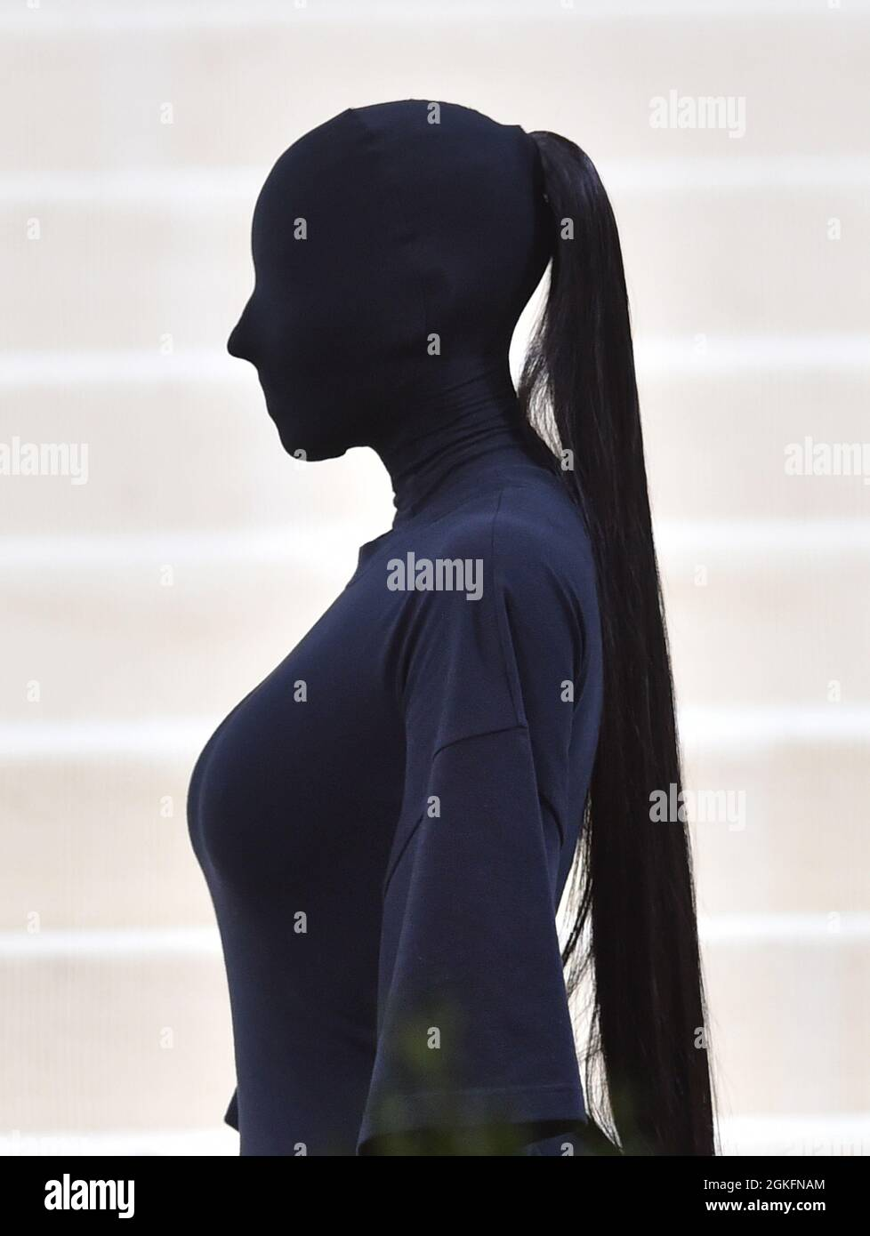 New York, New York, Stati Uniti. 13 settembre 2021. Kim Kardashian al Met Gala Benefit 'in America: A Lexicon of Fashion' del 2021 al Metropolitan Museum of Art il 13 settembre 2021 a New York City. Credit: John Palmer/Media Punch/Alamy Live News Foto Stock
