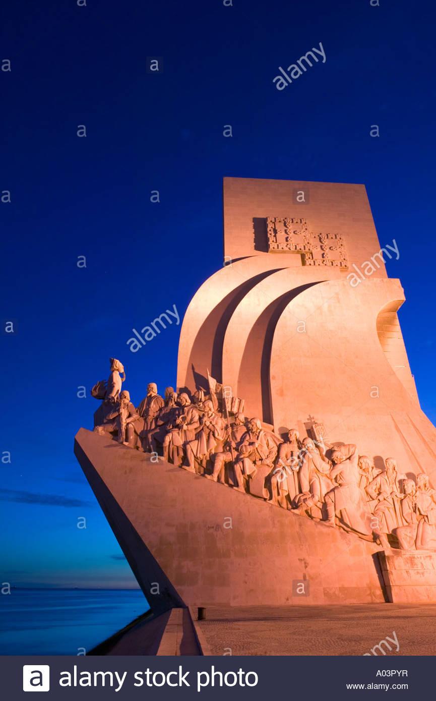 Il Monumento delle Scoperte Padrao dos Descobrimentos Belem Lisbona Portogallo Immagini Stock