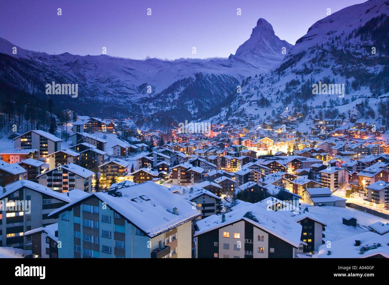 Zermatt, Vallese, Svizzera Immagini Stock