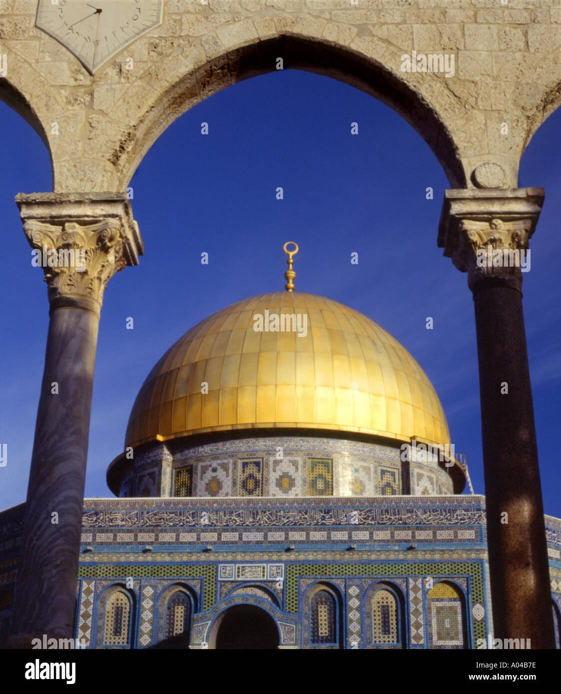 Israele Gerusalemme Cupola della roccia Immagini Stock