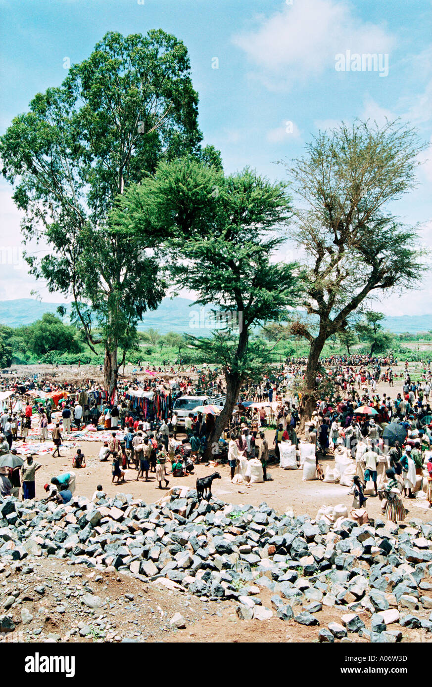 Sud Etiopia un mercato settimanale sulla strada a sud di Arba Minch COPYRIGHT GEORGE PHILIPAS DIRITTI MORALI ASSERITO Immagini Stock