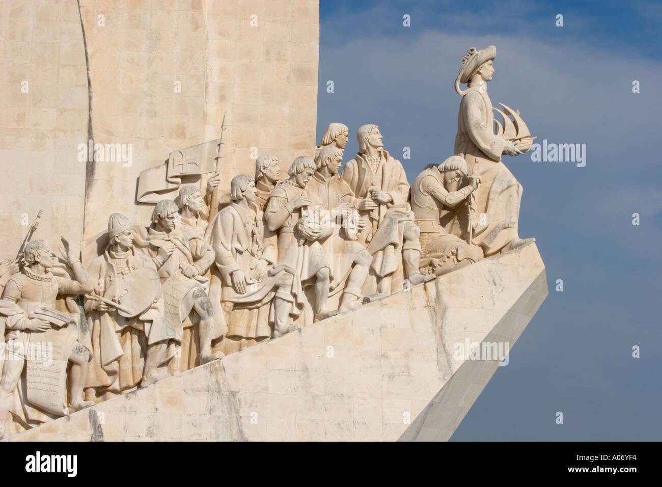 Lisbona portogallo il Monumento delle Scoperte Immagini Stock