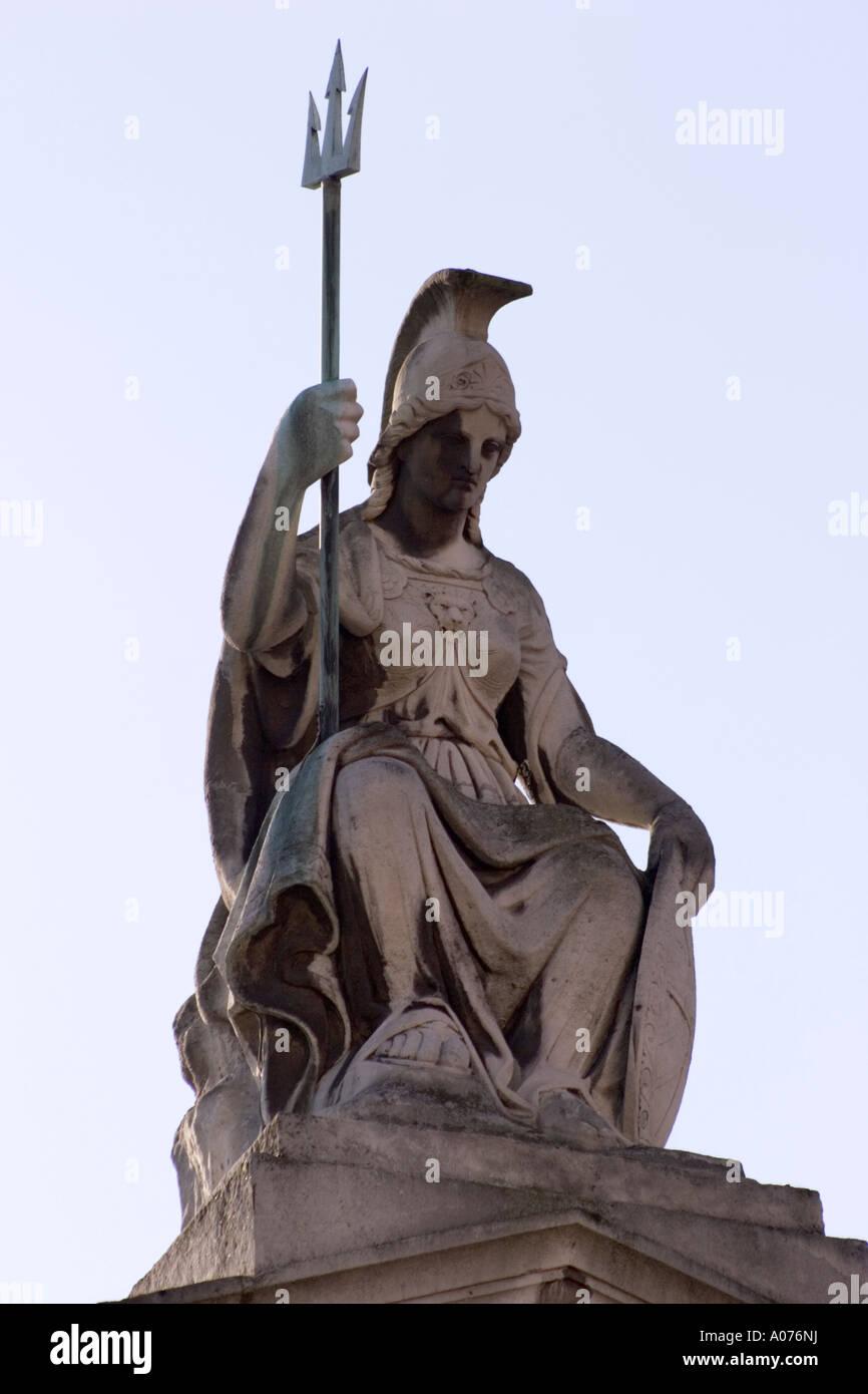 Britannia statua Custom House Lower Thames St Immagini Stock