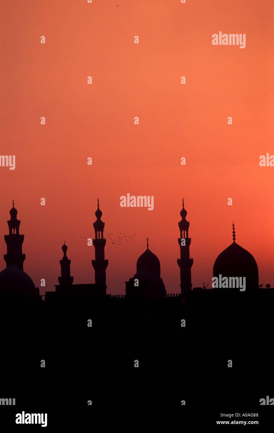 Le cupole e minareti Cairo Immagini Stock