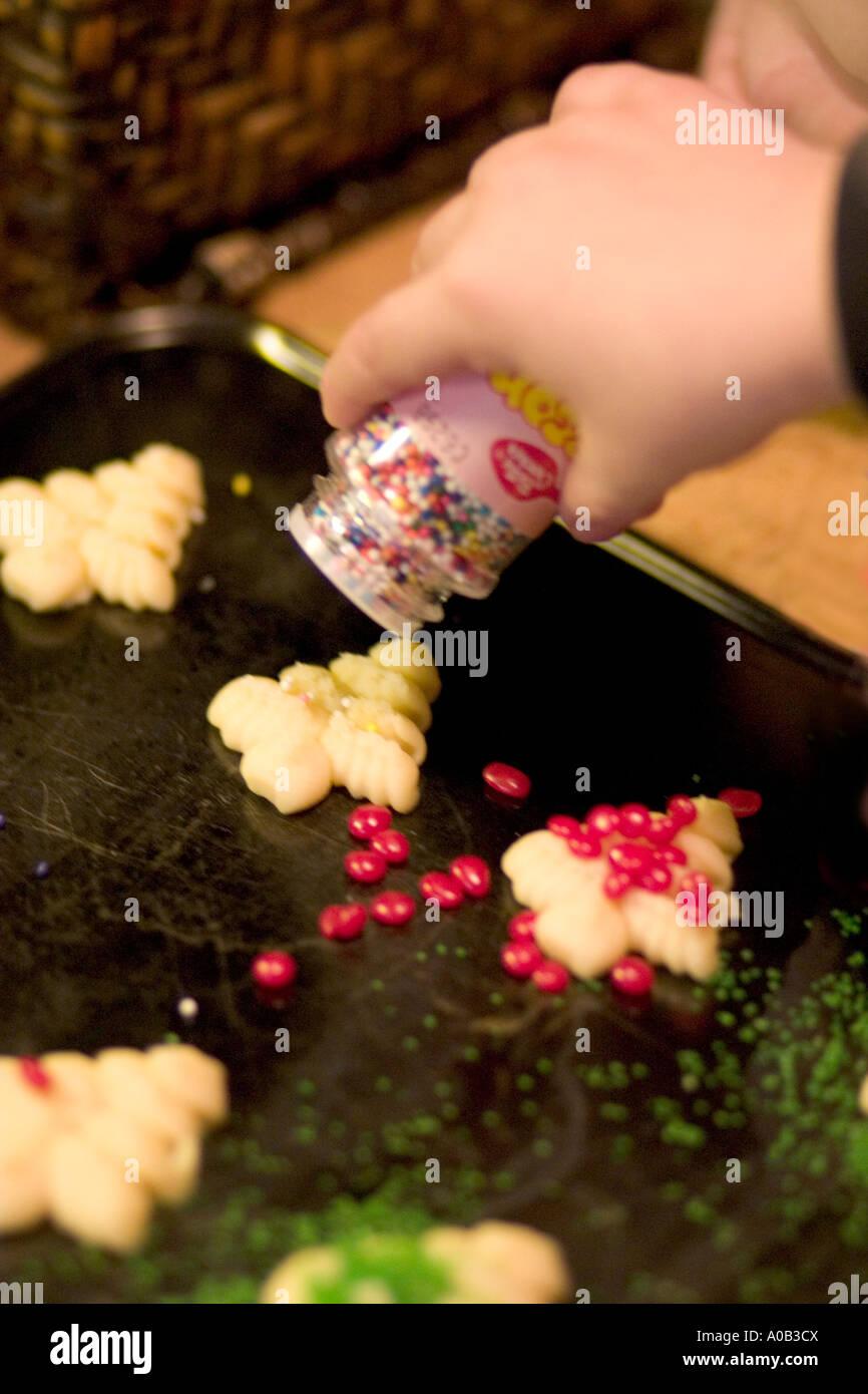 Biscotti Di Natale Usa.La Decorazione Di Albero Di Natale Spritz Biscotti Con Granelli