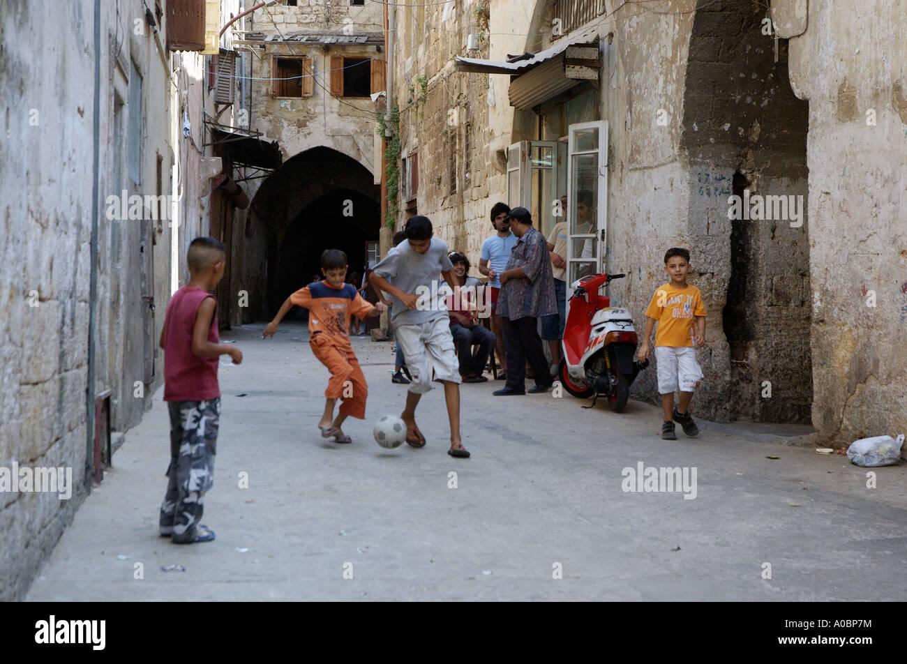 Il mercato storico nel nord della città libanese di Tripoli, Libano. Immagini Stock