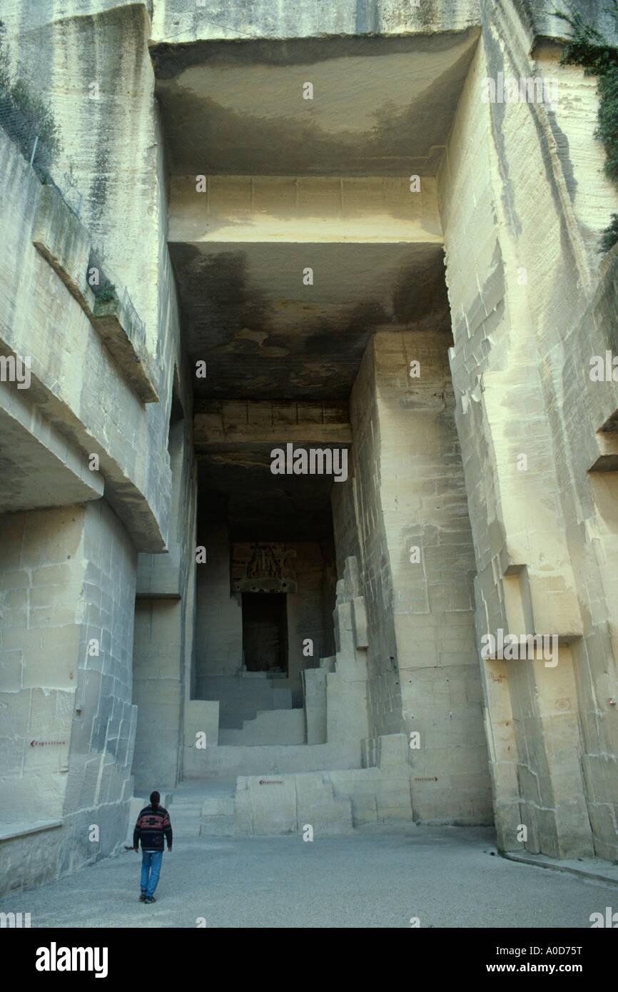 Francia Les Baux de Provence Cathedrale des images Immagini Stock