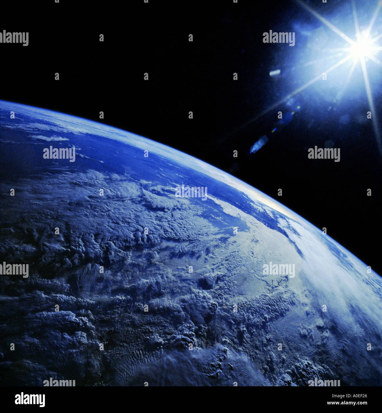 La terra dallo spazio Immagini Stock