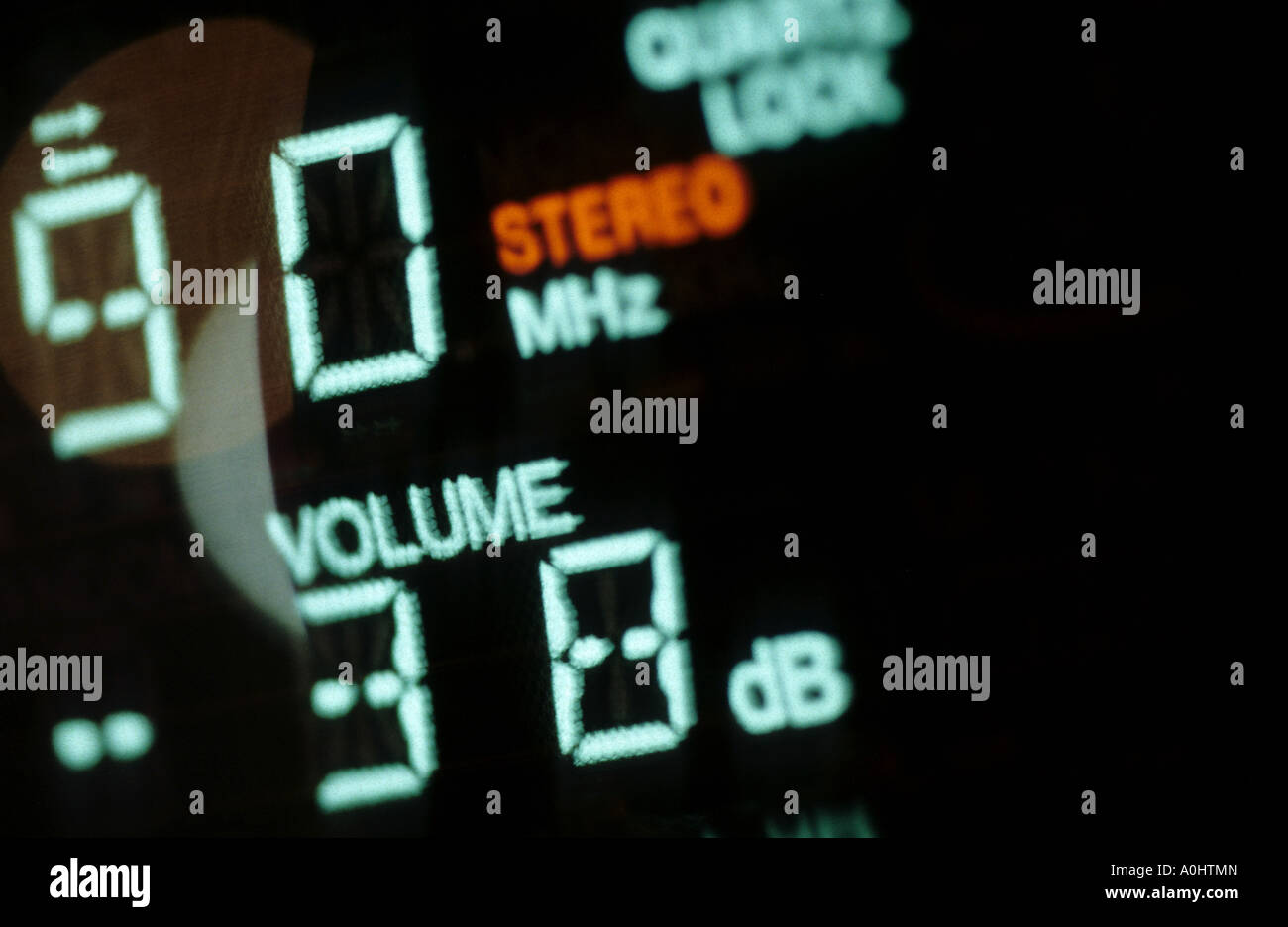 Dettaglio radio il volume del suono simbolo music broadcast Immagini Stock