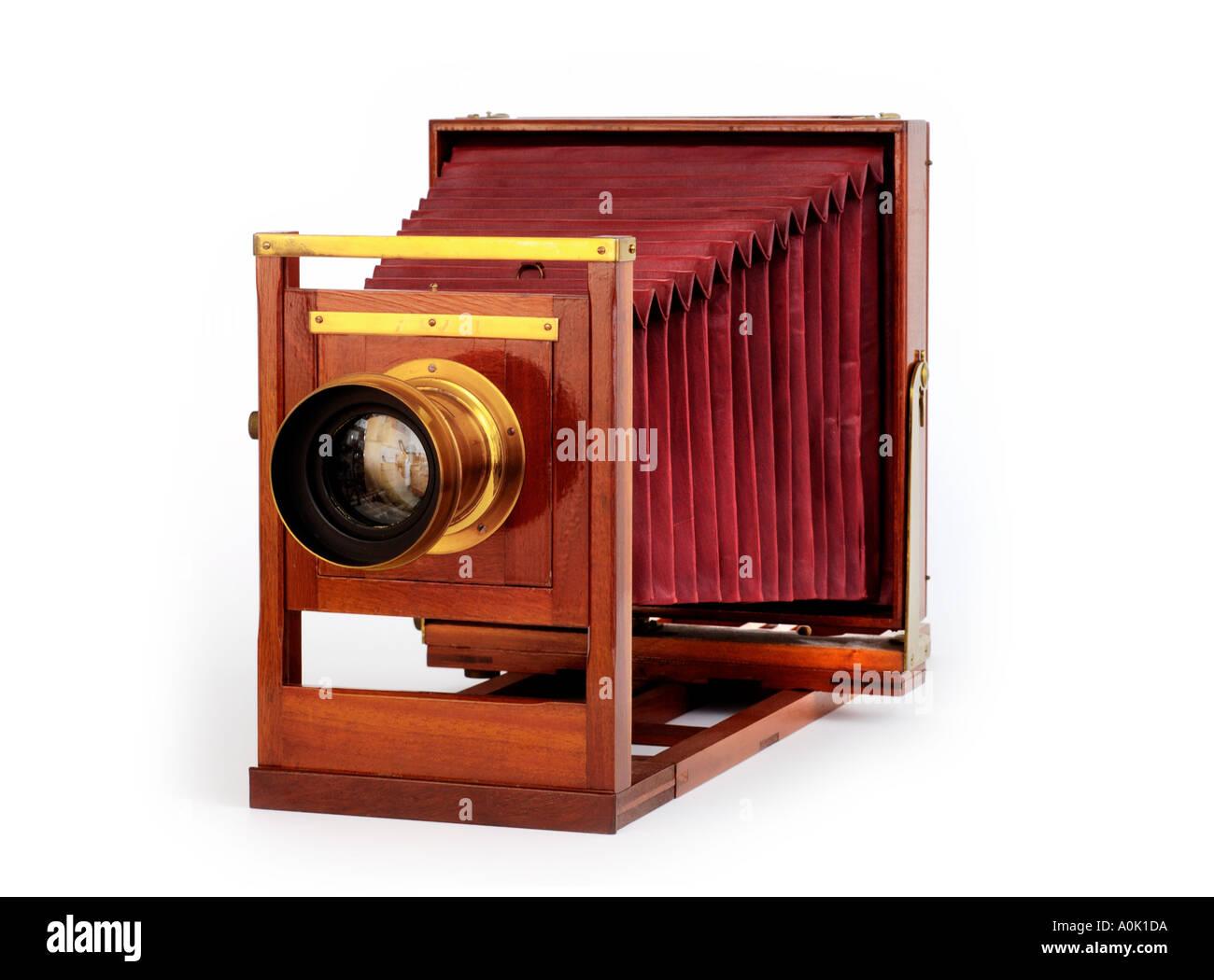 Legno di antiquariato Visualizza fotocamera Immagini Stock