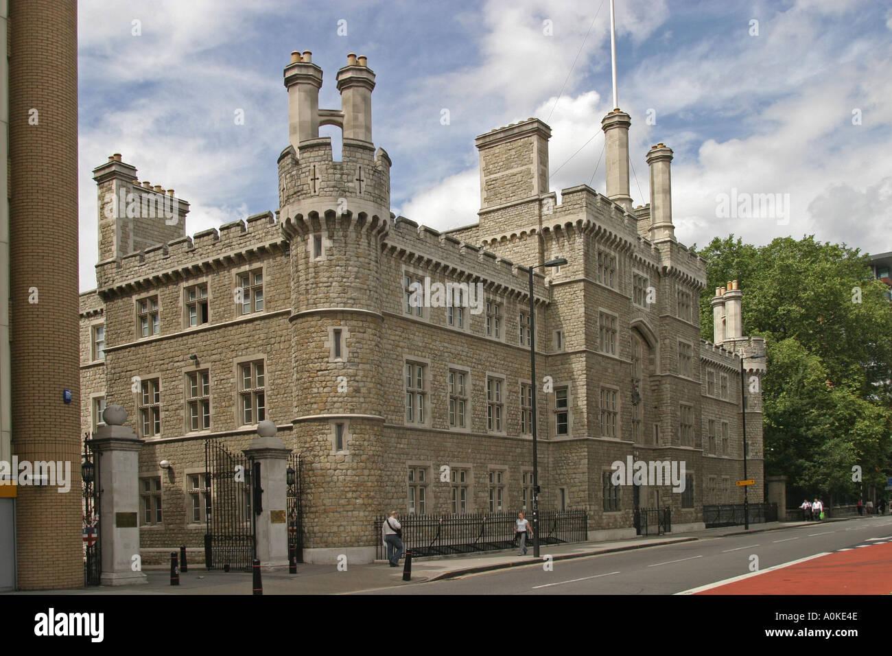 HAC Finsbury caserma home della onorevole compagnia di artiglieria nella City di Londra GB UK Immagini Stock