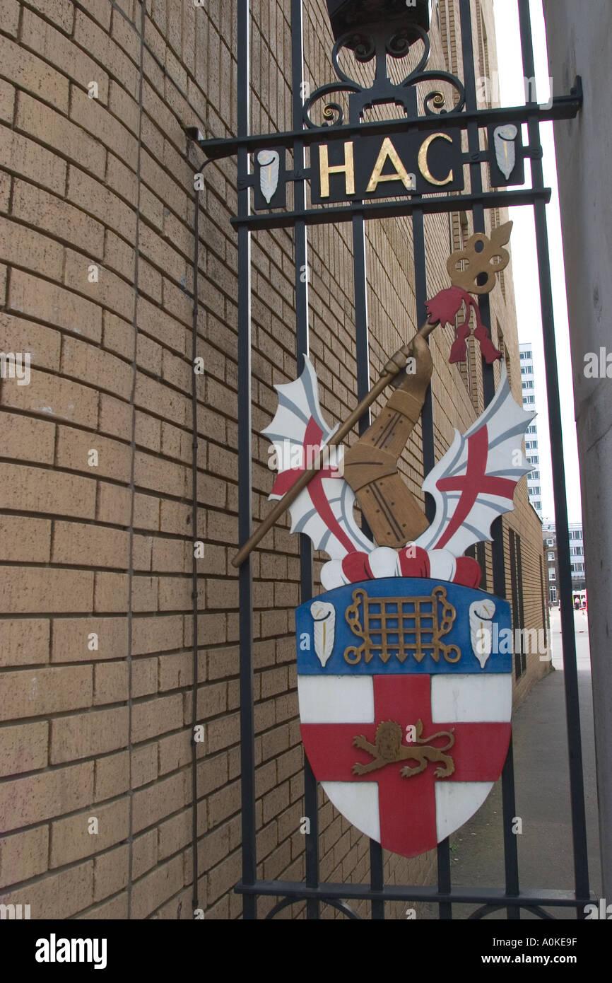 Finsbury caserma home della Onorevole Compagnia di Artiglieria in Moorgate City of London Immagini Stock