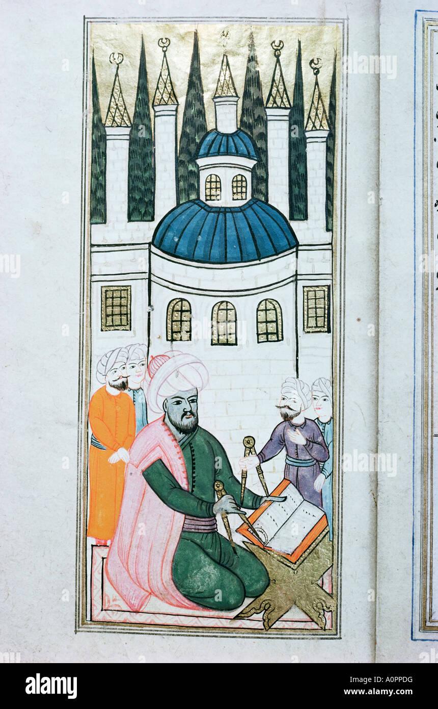 Illustrazioni di strumenti di disegno Museo Topkapi Istanbul Turchia Europa Eurasia Immagini Stock