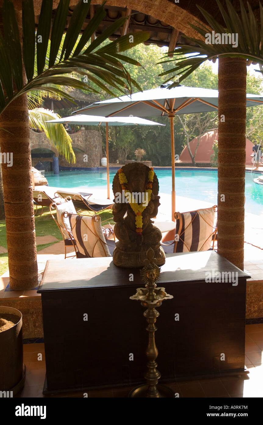 Nilaya Hermitage è un boutique hotel Goa India Asia Immagini Stock