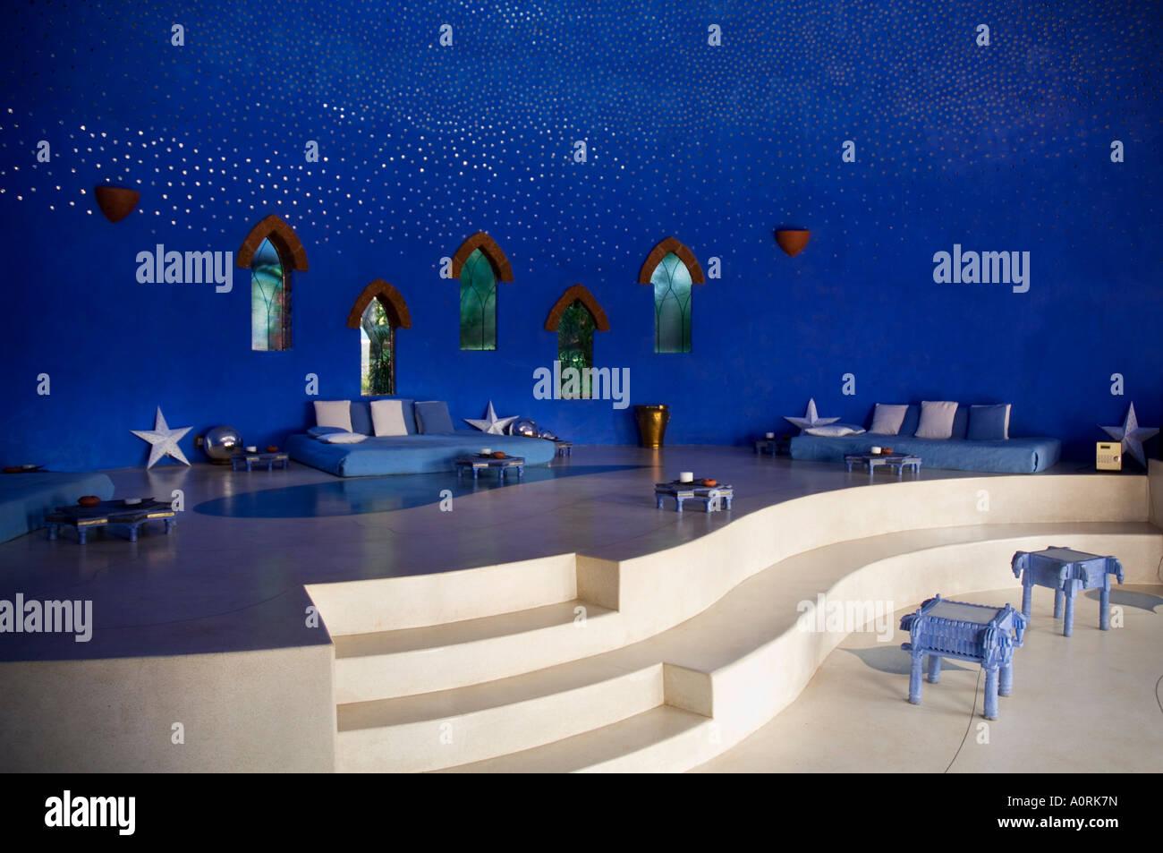La sala musica Nilaya Hermitage è un boutique hotel Goa India Asia Immagini Stock