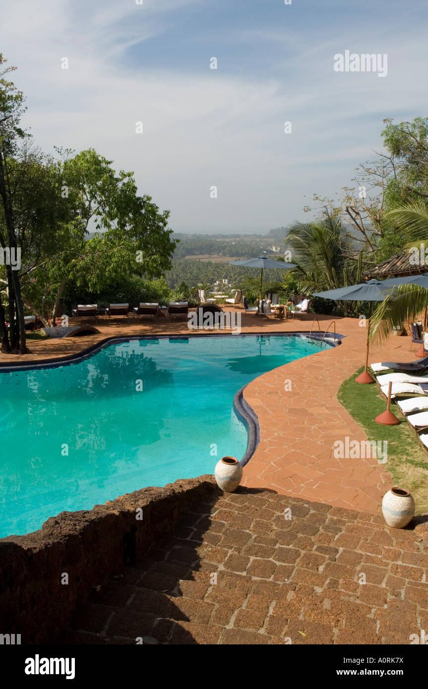La piscina all'Nilaya Hermitage è un boutique hotel Goa India Asia Immagini Stock