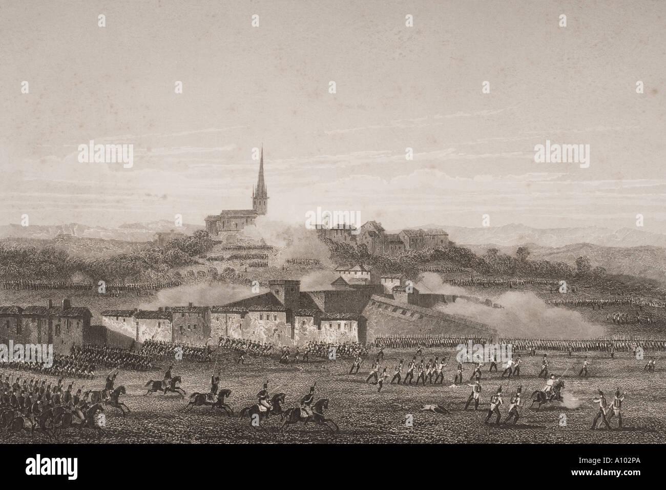 Battaglia di Montebello Provincia di Pavia Nord Italia il 9 giugno 1800 Immagini Stock