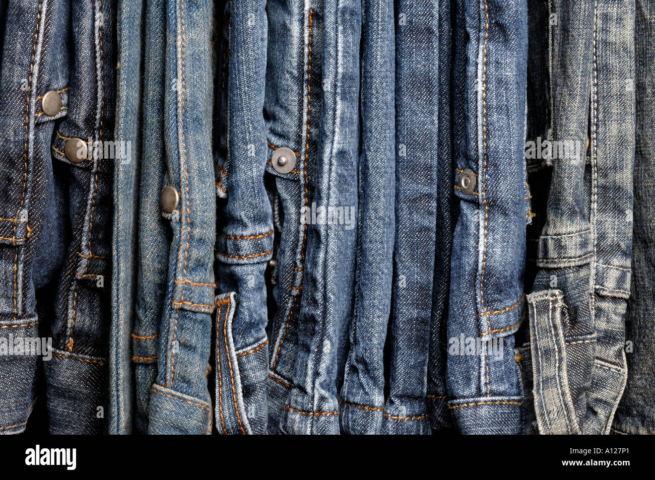 Jeans in denim Immagini Stock