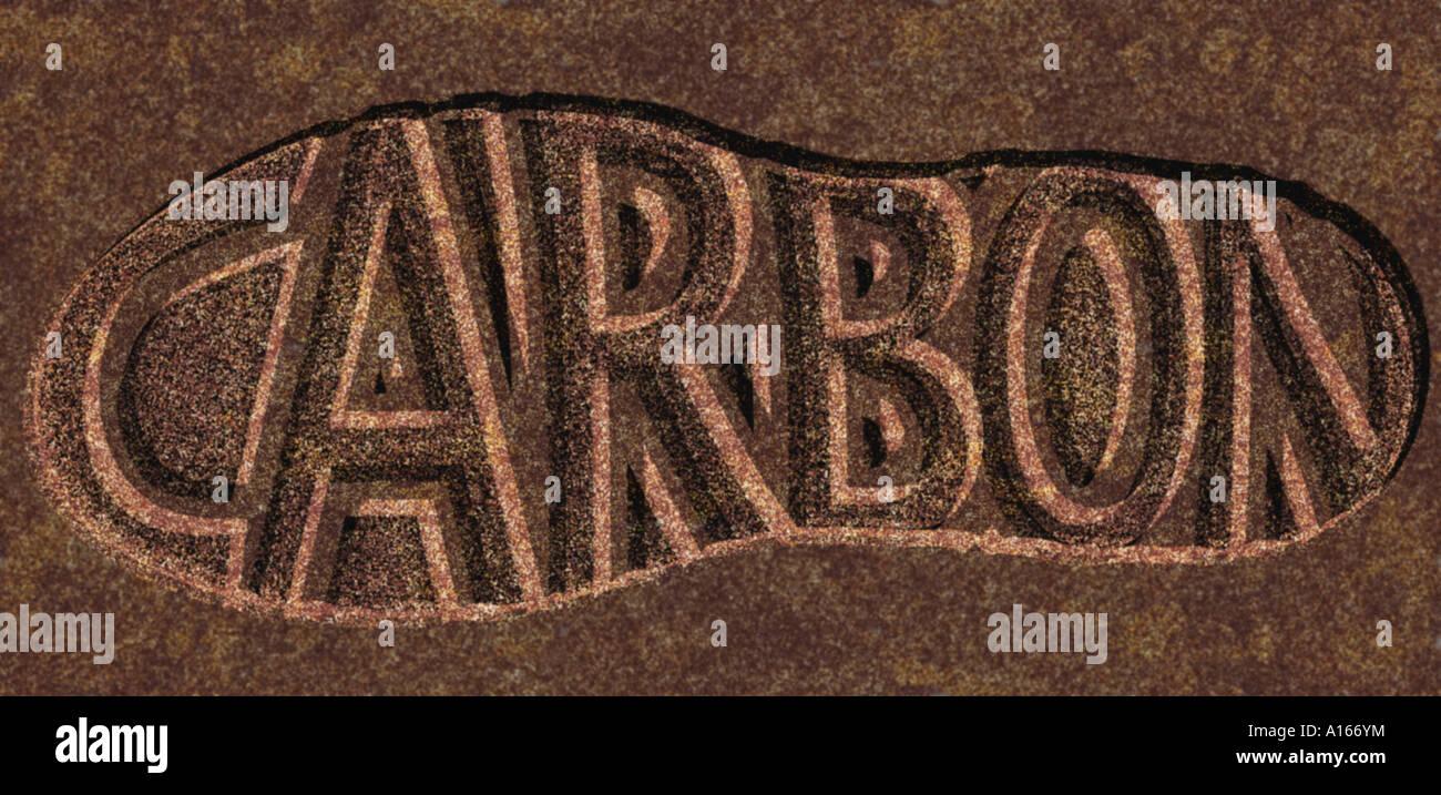 Impronta di carbonio 01 Immagini Stock