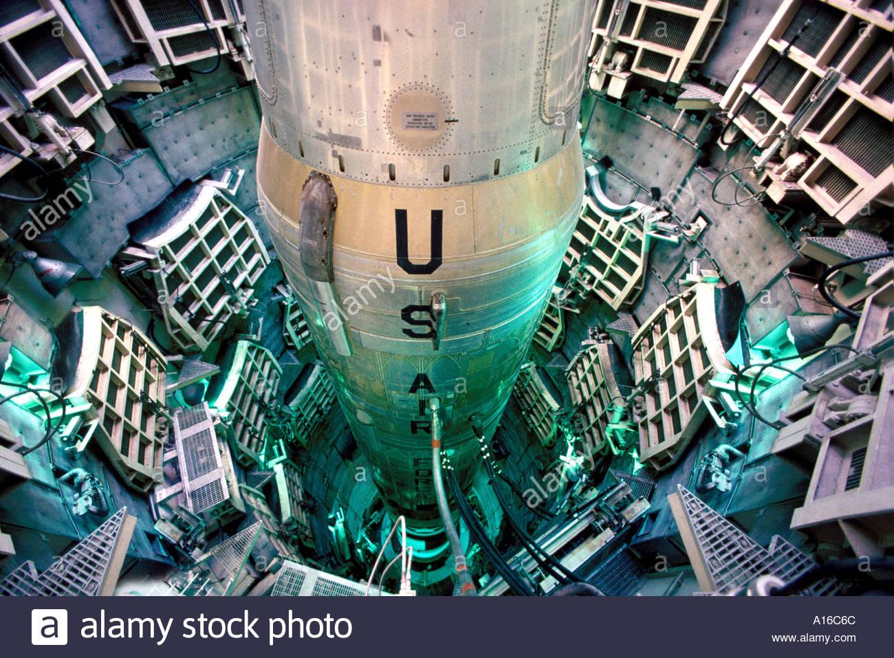 Titan II missile intercontinentale Intercontinental missile balistico al Missile Museum Valle Verde Arizona, è mirata in Russia Immagini Stock