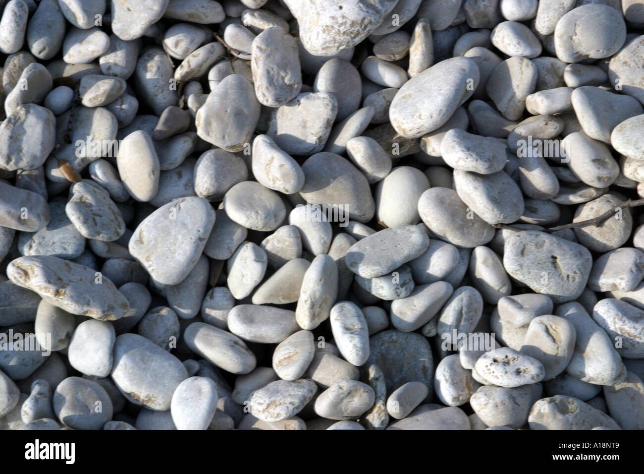 Spiaggia di ciottoli texture Immagini Stock