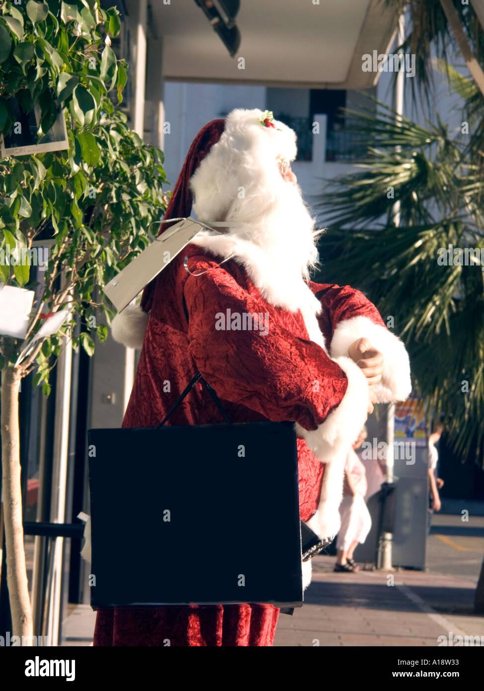 Babbo Natale In Spagnolo.Segno Bianco Inserisci Qui Il Tuo Messaggio Babbo Natale