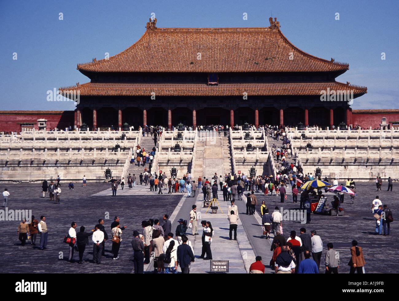 La Città Proibita Palazzo Imperiale di Pechino CINA Foto Stock