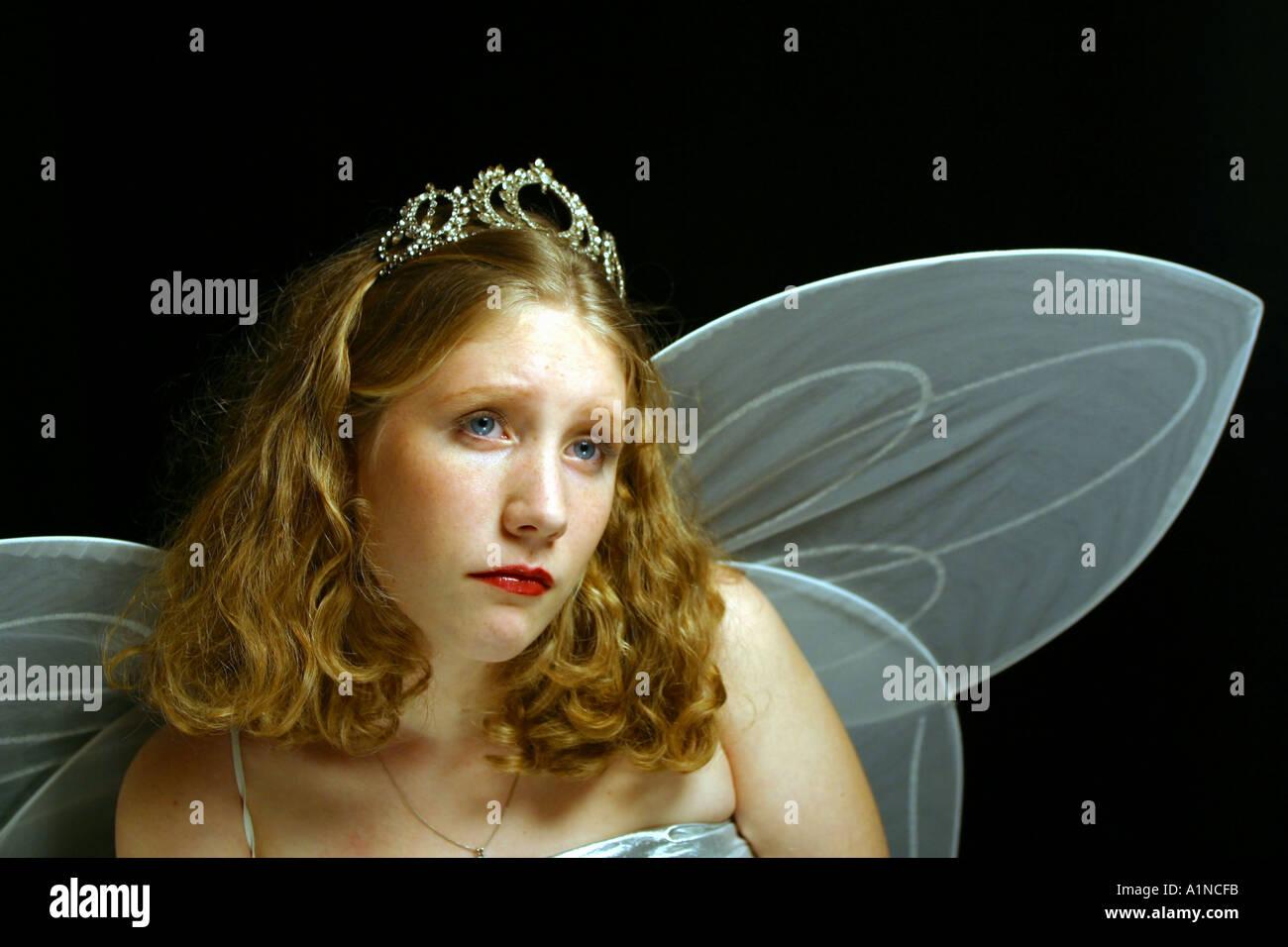 Triste fata principessa foto foto fotografie di persone Immagini Stock
