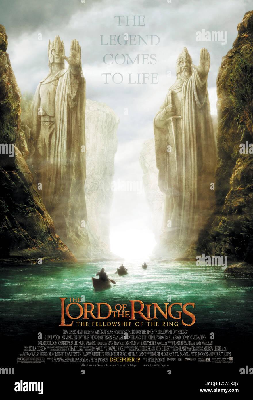 Il Signore degli Anelli: La compagnia dell'anello Immagini Stock