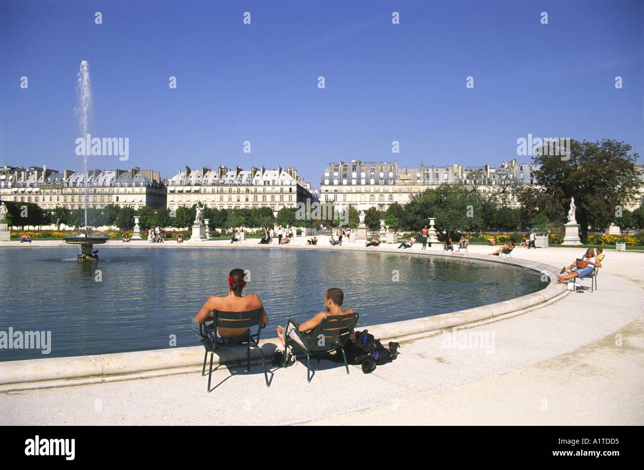 Tuileries Parigi Foto Stock