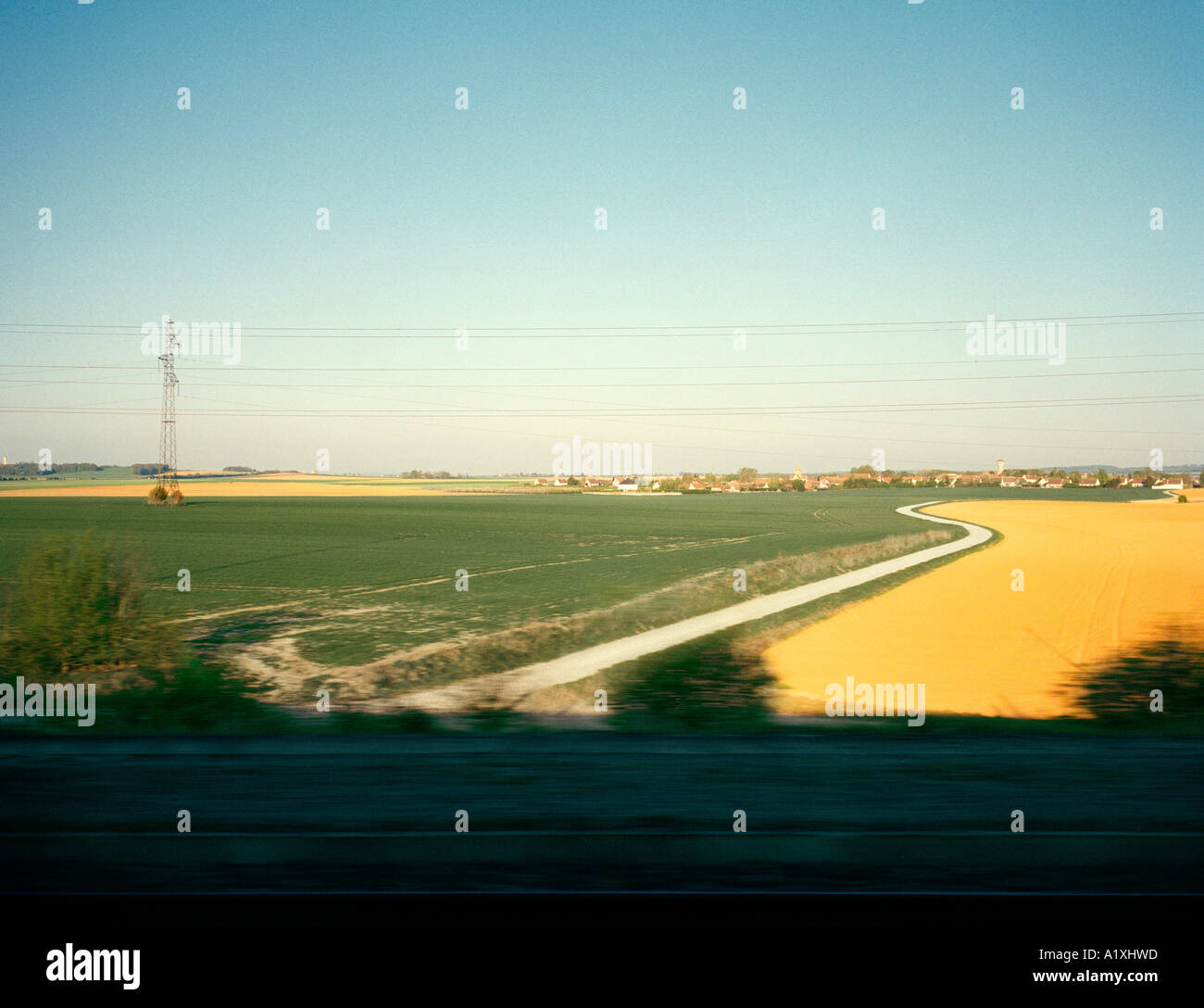 Il transito, nel nord della Francia. Immagini Stock