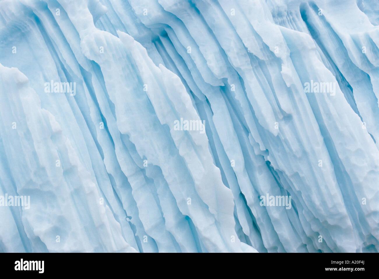 Formazione di ghiaccio Foto Stock