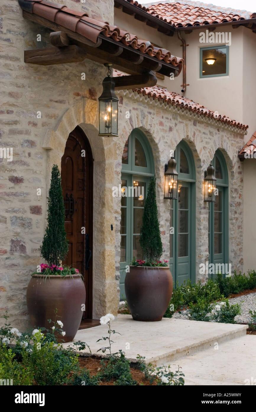 Ingresso Casa Esterno In Pietra ingresso con finestre in legno fatti a mano porta messicana